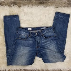 Button Fly 1969 Gap Distressed Jeans